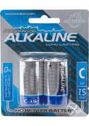 Dj Alkaline Batteries C 2pk (disc)