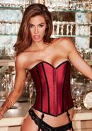 Satin Heart Corset Red/blk Xl