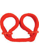 Japanese Love Rope Wrist Cuffs Red