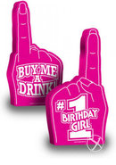 #1 Birthday Girl Foam Finger