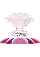 Bachelorette Diamond Ring Centerpiece