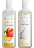 Oralove Delicious Duo Peaches/cream Set