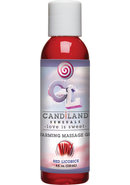 Candiland Warming Oil 4oz Red Licorice