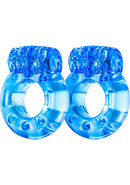 Stay Hard Vibrating Cockrings Blue 2pk