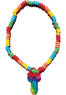 Rainbow Cock Stretchy Candy Necklace