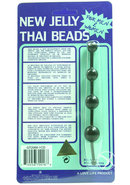 Jelly Thai Anal Beads Black