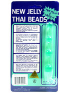 Jelly Thai Anal Beads Green