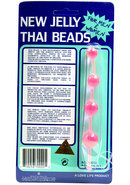 Jelly Thai Anal Beads Pink