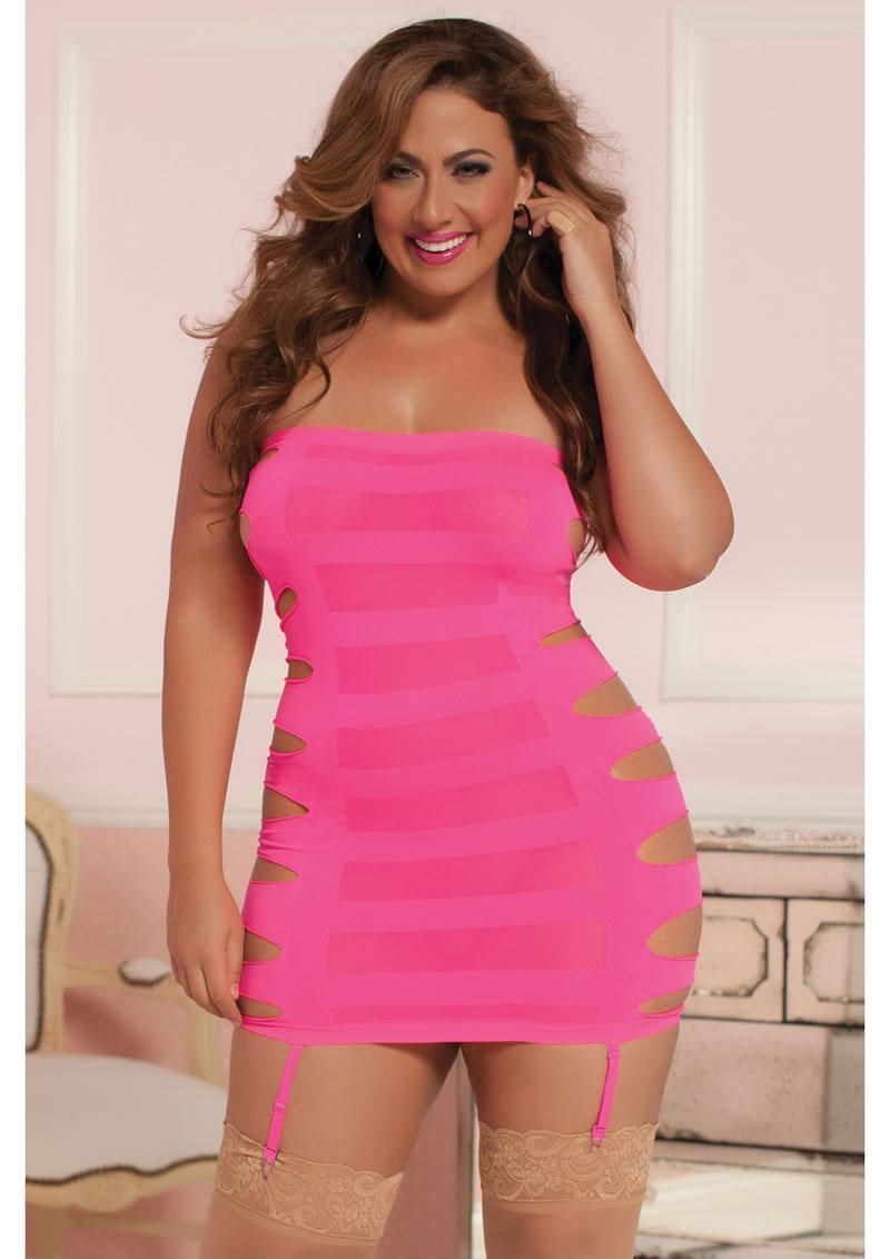 Flashy-dress-pink-x