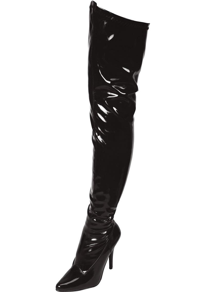 Black Thigh High Boot Sz 11
