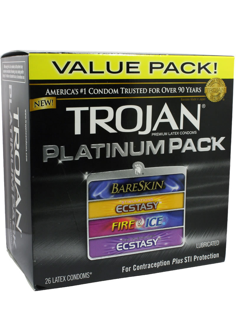 Trojan Platinum Pack Lubricated 26s